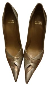 Stuart Weitzman Metallic Rose Gold Stilletto Holiday Rose Gold/Bronze/Silver/Metallic Pumps