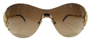 FRED FRED LUNETTES Sunglasses 8449 PEARLS F6 Champagne 206 Authentic