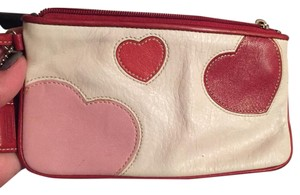 Coach Wristlet in White W/ Red