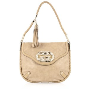 Gucci Leather Satchel in Beige