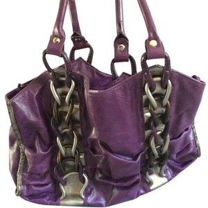 Nicole Lee Satchel in Purple/silver