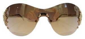 FRED FRED LUNETTES Sunglasses 8449 PEARLS F6 Champagne 706 Authentic