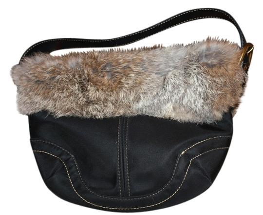 Coach Fur Lined Small Hobo Bag