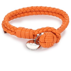 Bottega Veneta Intrecciato Leather Double Row Wrap Bracelet