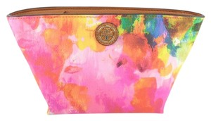 Tory Burch Tory Burch 34041 Abstract Watercolor Cameron Cosmetic Case NEW!