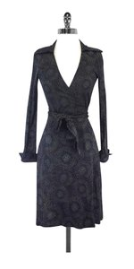 Diane von Furstenberg short dress Black Speckled Silk Wrap on Tradesy