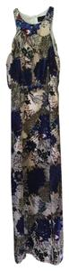 Line & Dot Velvet Burnout Maxi Gown Floral Dress