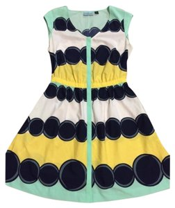 Cynthia Rowley short dress Yellow, seafoam green on Tradesy