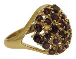Technibond Technibond Red Garnet Cluster Ring 9