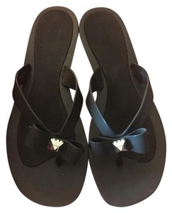 Guess Sparkle Bow Black Sandals