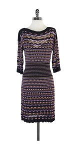Missoni short dress Dark Grey Pink Purple Knit on Tradesy