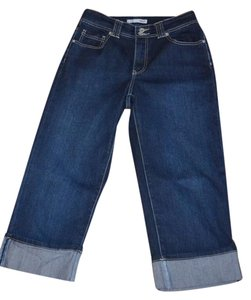 Chico's Platinum Claire Crop Size 6 Chico Size 0.5 Capri/Cropped Denim-Dark Rinse