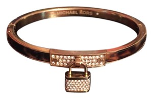 Michael Kors Michael Kors Tortoise and Gold Padlock Bangle