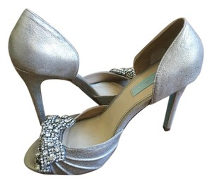 Betsey Johnson Betsy Bridal Silver Metallic Pumps