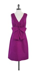 Kate Spade short dress Magenta Silk Sleeveless Bow on Tradesy