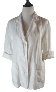 Theodore Beverly Hills Cotton Linnen Summer White Jacket
