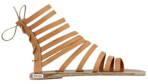 Ancient Greek Sandals Leather Leather Nude Sandals