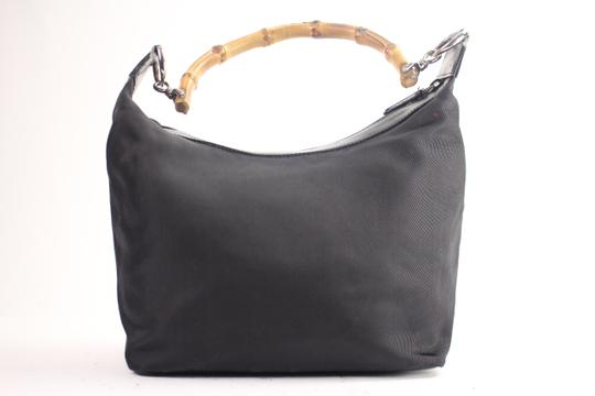 Gucci Nylon Bamboo Hobo Shoulder Bag Image 1
