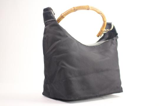 Gucci Nylon Bamboo Hobo Shoulder Bag Image 2