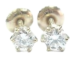 CUSTOM Fine Round Cut Diamond Stud Earrings .52ct Screw Back Yellow Gold