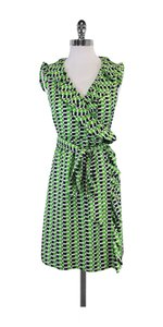 Kate Spade short dress Green Checkered Silk Wrap on Tradesy