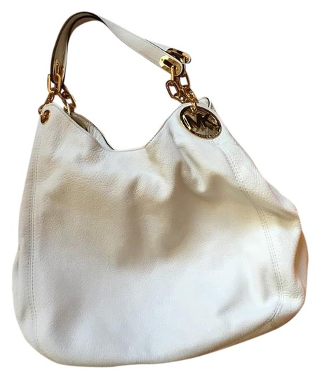 5f8b0a2d6a Michael Kors Fulton Optic White Leather Shoulder Bag - Tradesy