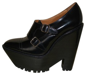 Burberry Prorsum Leather Mocassin Black Wedges
