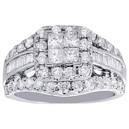 Other 14K White Gold Princess Cut Diamond Wedding Engagement Ring 3 Ct. Image 1