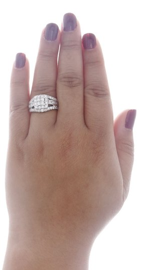 Other 14K White Gold Princess Cut Diamond Wedding Engagement Ring 3 Ct. Image 4