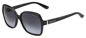 Jimmy Choo Black Snake Embossed Lori Sunglasses