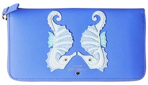Kate Spade Lacey Breath Of Fresh Air Seahorse Zip Around Wallet