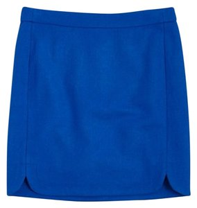 J.Crew Cobalt Blue Wool Mini Mini Skirt