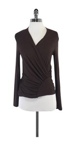 Max Mara Brown Neckline Top