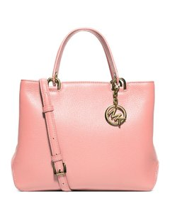 Michael Kors Anabella Leather Pebbled Tote in Pale Pink