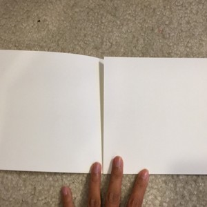 100 Ivory Trifold Square Stationary