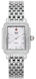 Michele NEW Authentic Deco Mini Diamond MWW06D000012 Watch