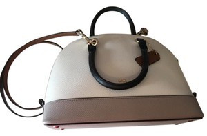 Coach Leather Purse Satchel in white