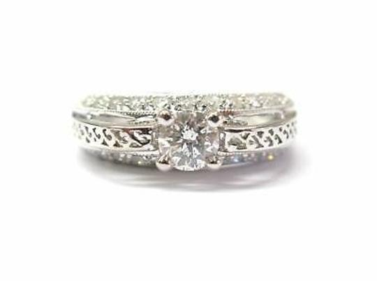 Fine Round Diamond Solitaire Royal Design 1.35ct Engagement Ring
