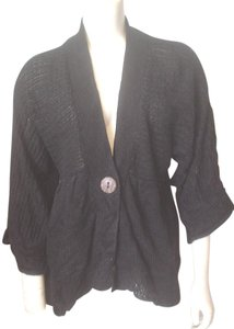 Other Crochet Knit One Button Close Kimono Sleeve Lightweight Cb Designs Sweater