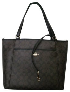 Coach Tote in Black/brown