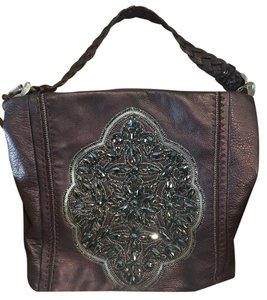 Brighton Leather Beaded Hand Stitched Shoulder Bag