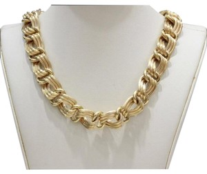Estate Jewelry Vintage Chunky Link 18K Yellow Gold Necklace Choker