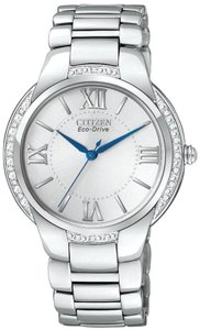 Citizen NEW WOMENS CITIZEN ECO-DRIVE (EM0090-57A) CIENA SILVER DIAMOND WATCH
