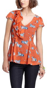 Anthropologie Dog Meadow Rue Top Orange