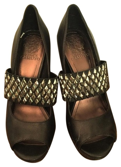 Item - Black With Metal Studs. Excellent Used Condition Mules/Slides Size US 6.5 Regular (M, B)