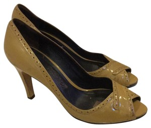 Faonnable Tan yellow mix Pumps