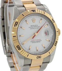 Rolex Rolex DateJust Turn-O-Graph 18k Gold Steel 36mm Oyster Watch 116261