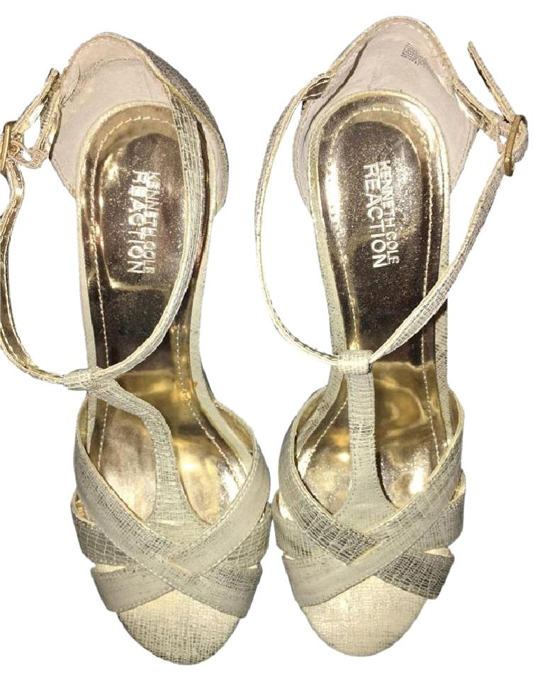 Kenneth Cole Diamond Silver White Gold Sandle Diamond Cole Wedges 4f337a