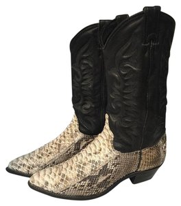 Abilene Cowgirl Boots Black leather, White snake skin Boots