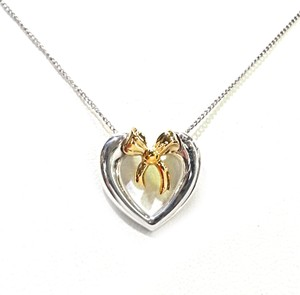 Tiffany & Co. Tiffany & Co 18K & Sterling Silver Vintage 1991 Heart Necklace 18